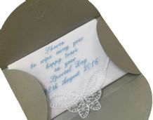 Personalised Handkerchief, bride, wedding, mother gift. (1)
